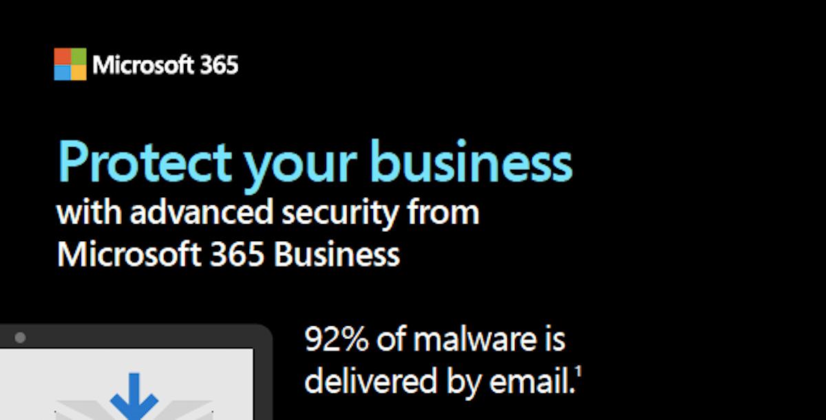 Schützen Sie Ihr Unternehmen mit Microsoft 365 Business gegen Bedrohungen der Cybersicherheit
