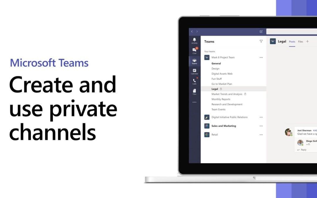 Erstellung und Verwendung von privaten Kanälen in MS Teams