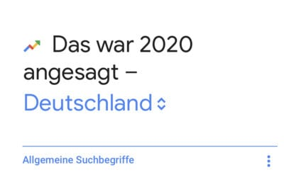 TOP 10 Google Suchanfragen 2020