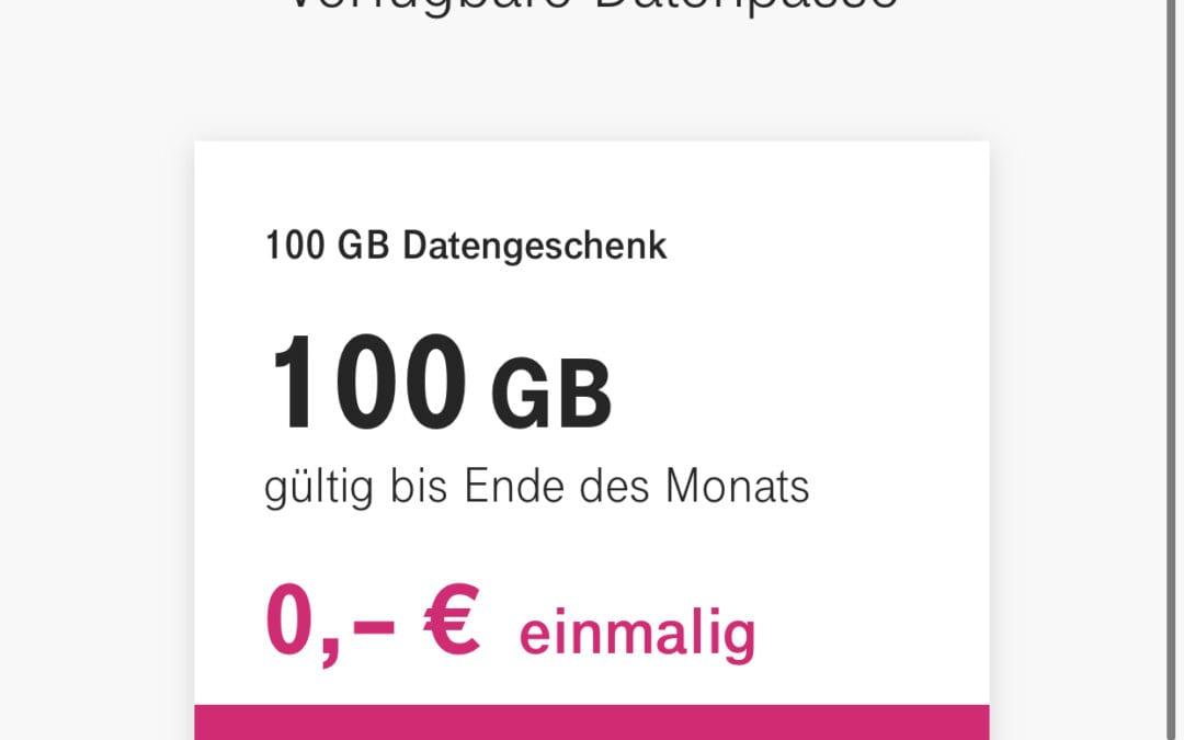 Telekom – 100GB Datenvolumen geschenkt
