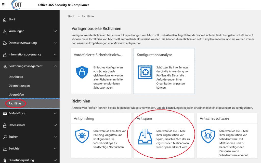 Weiterleiten an externe E-Mail Adressen in Microsoft 365 erlauben