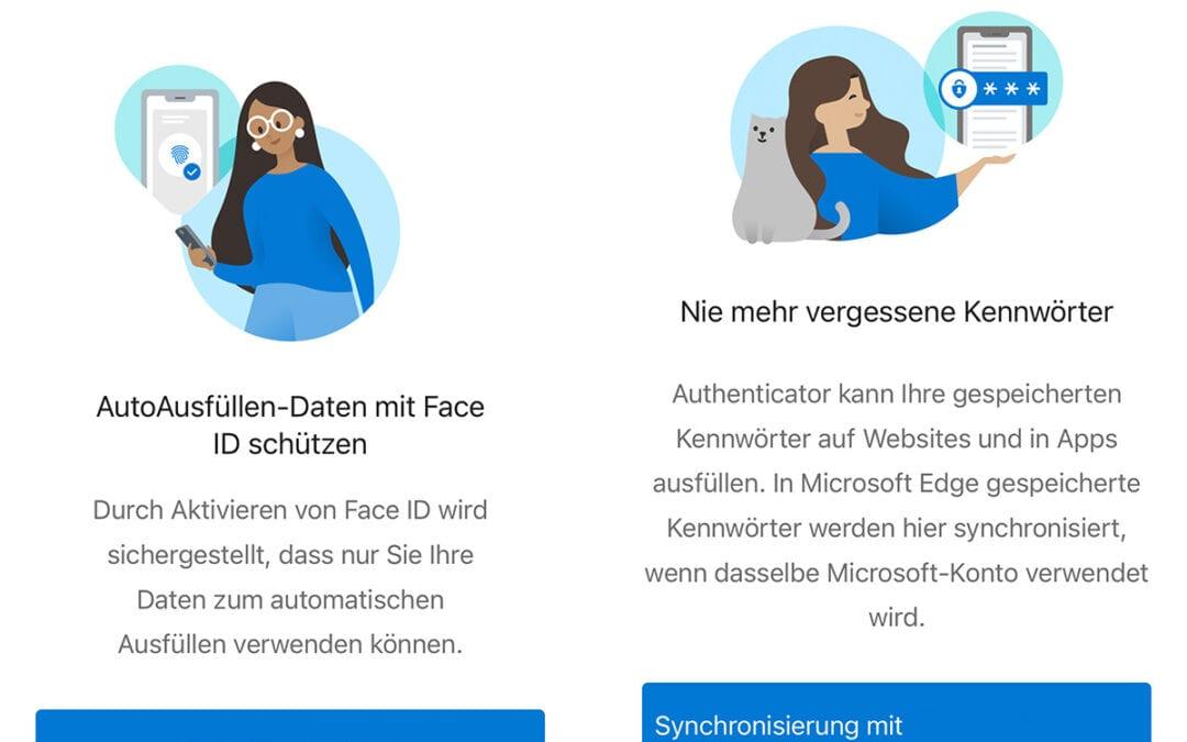 Microsoft Authenticator speichert deine Passwörter unter iOS