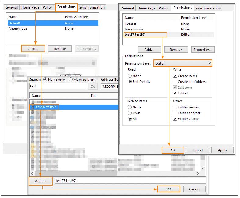 Exchange online | Outlook: Selektiver Zugriff ohne Freigabeeinladung