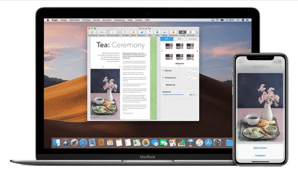 Copy und Paste zwischen Mac und iPhone