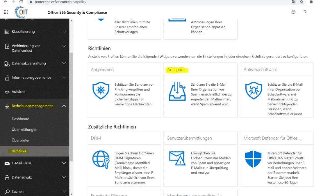 Whitelist Domains – Adressen grundsätzlich aus dem Spam entfernen
