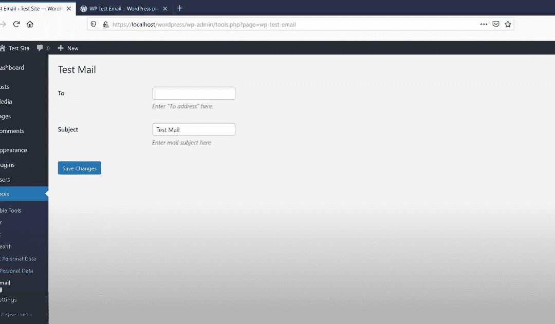 Teste die E-Mail Funktionalität auf deiner WordPress – Seite