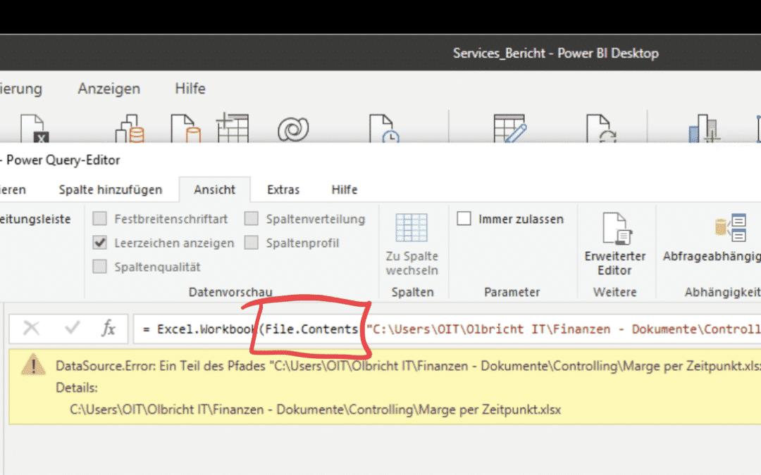 Power BI – Lokale Exceldatei in OneDrive bzw. SharePoint verlagern